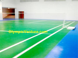 2 Tennis Courts with Fiber Reinforced Mesh and Premix, Gold Coast Condo, Penang.