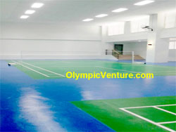 Another View of 2 Indoor Badminton Courts Hall at Tropicana Bay Residences, Penang