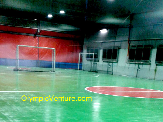 Another View of 2 Olymflex Seamless Rubberized Floor Futsal Courts, Impian Emas, Johor