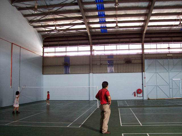 4 Badminton Courts using Olymflex Rubberized Floor in Old Klang Road.