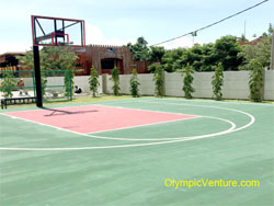Another View of Half Basketball Court of Acrylic Sports Court Coating System for 8 Gurney Condominium