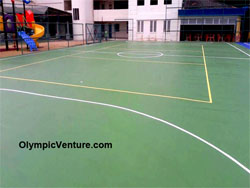 Another View of 2 futsal courts at Beaconhouse Sri Lethia School.