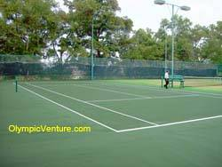 1 rubberized cushion tennis court for Bukit Jambul Country Club