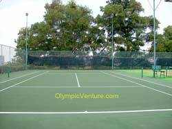 another view of 1 rubberized cushion tennis court for Bukit Jambul Country Club, Penang