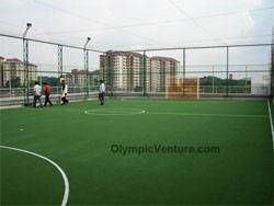 1 rooftop outdoor futsal court for Canon, KL
