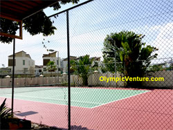 Another View of Refurbished 2 Tennis Courts with Fiber Reinforced Mesh and Premix, Gold Coast Condo, Penang