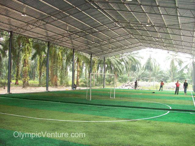 2 Futsal courts in Kuala Langat using Tiger Turf with 2-toned green