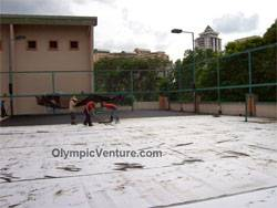 Rubberized Cushioned Tennis Courts for Mont Kiara Palma