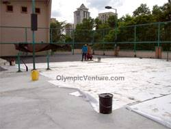 Rubberized Cushioned Tennis Courts for Mont Kiara Palma, another view