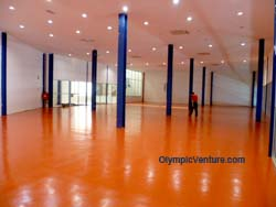 another view of 2 Olymflex Heavy-Duty Gym floor for Dato' Lee Chong Wei Arena / Sports Arena Sentosa, Old Klang Road