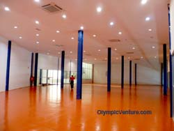 Installed 2 Olymflex Heavy-Duty Gym floor for Dato' Lee Chong Wei Arena / Sports Arena Sentosa, Old Klang Road