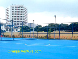 Olymflex Fiber Mesh Reinforced Sports Court Surface Coating of Futsal for Ibu Pejabat Polis Kontinjen (IPK) Johor Bahru