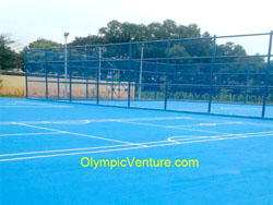 Olymflex Fiber Mesh Reinforced Sports Court Surface Coating of Multipurpose Court of Badminton & Sepak Takraw for Ibu Pejabat Polis Kontinjen (IPK) Johor Bahru