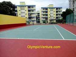 2 Tennis Courts at Kampung Kastam, Butterworth, Penang