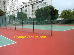 Another View of 2 Tennis Courts at Kampung Kastam, Butterworth, Penang