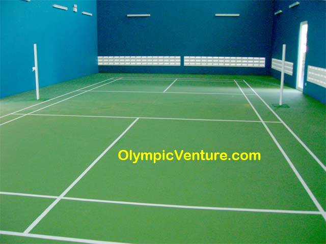 Rubberized Badminton Court for Bukit Jambul Condominium, Penang.