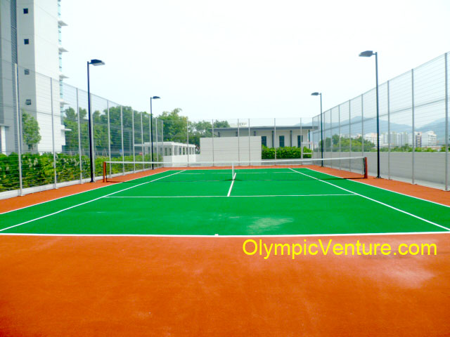 One Synthetic Turf Tennis Court for The Address Condominium, Penang.