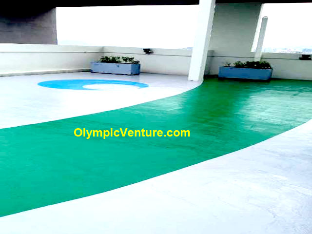 World City Epoxy Painting on Rooftop