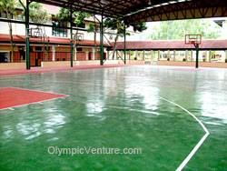 Rubberized Basketball Court in Alice Smith Secondary School, Seri Kembangan, KL