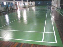 Badminton Rubberized Floor Courts for Penang Buddhist Association