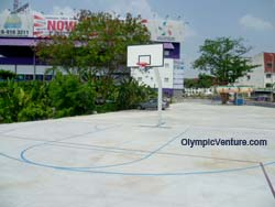 Draw basketball court lines for Sports Arena Sentosa, Old Klang Road
