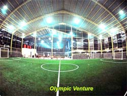 Client installed futsal court himself using material supplied by Olympic Venture