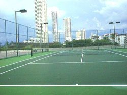 gurney park tennis courts side view