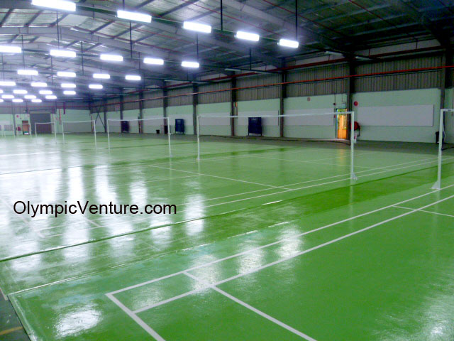 8 Olymflex badminton courts for Hurricane Sports Centre, Tanjung Malim, Perak