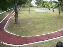 Rubberized jogging track in Intel Penang