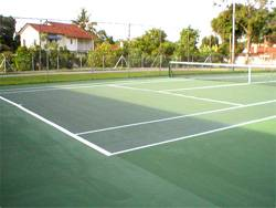 jabatan kerja raya's (JKR) outdoor tennis court for its staff quarters