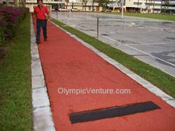 long jump rubberized running track in Jit Sin Chinese School in Bukit Mertajam
