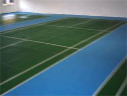 3 Badminton Courts using Olymflex Rubberized Seamless PU Membrane Fibre-reinforced Floor for Kepong Sentral Condominium