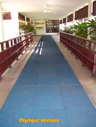 Kota Permai's Golf and Country Club's blue rubber tiles