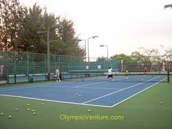 3 rubberized cushion tennis court for Kota Permai Golf and Country Club
