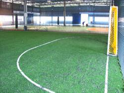 another view of university technology malaysia's rubberized floor with futsal and badminton playing lines