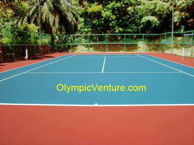 1 Fibre Reinforced Tennis Court using Plexipave Coating System in Menara Bangsar Condominium, KL