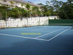 another view of 2 tennis hard courts for OUM, KL