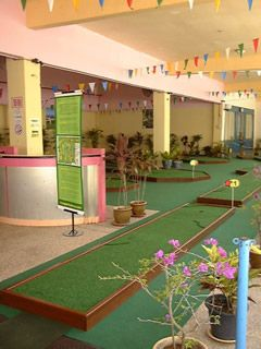 par 1 banner miniature golf