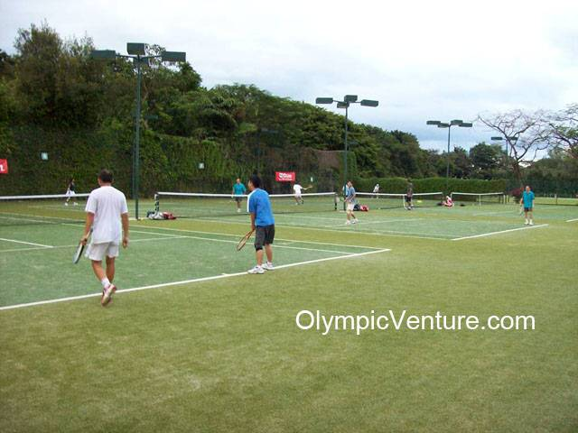 4 tennis courts using Tiger Turf in Penang Sports Club