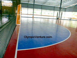 Installed 4 Olymflex Futsal Rubberized Courts at Pendang, Kedah