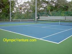 2 rubberized cushion tennis courts at Royal Lake Club, KL