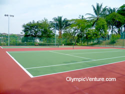 Another view of Saujana Club's 2 tennis hard courts.