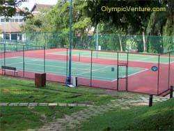 another view of 2 tennis hard courts for Saujana Golf and Country Club