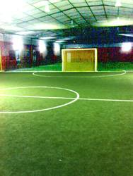 Sports Bay's Two Indoor Futsal Court using synthetic turf