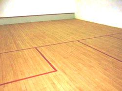 squash courts timber floor upgrade
