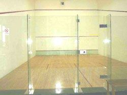 squash courts glass door ellis pearson