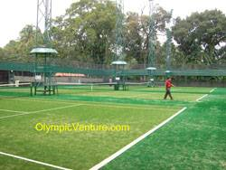 another view of 4 synthetic turf tennis courts for Royal Lake Club, Kuala Lumpur
