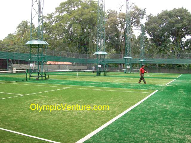 4 synthetic turf tennis courts for Royal Lake Club, Kuala Lumpur
